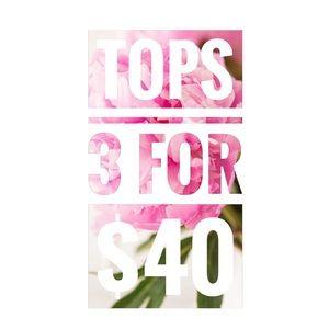 Love Riche Tops - 3 FOR $40 • Lightweight Ladder Sleeve Top